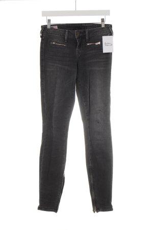 True Religion Jeans skinny grigio scuro Logo applicato (in pelle)
