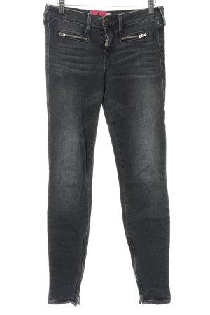 True Religion Skinny Jeans dunkelgrau meliert Casual-Look