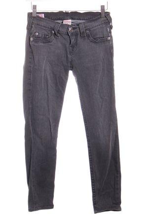 True Religion Skinny Jeans dunkelgrau-wollweiß Washed-Optik