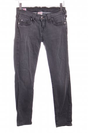 True Religion Skinny Jeans dunkelgrau-wollweiß Washed-Optik
