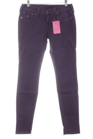 True Religion Jeans skinny viola scuro stile casual