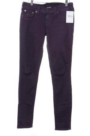 True Religion Skinny Jeans dunkelviolett Casual-Look