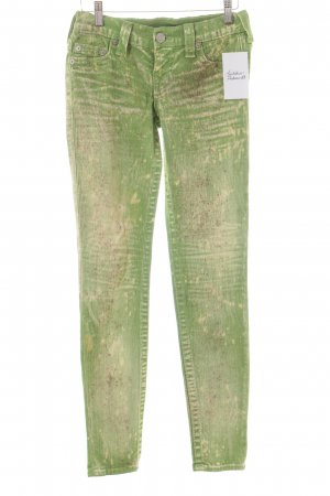 True Religion Skinny Jeans Farbtupfermuster Used-Optik