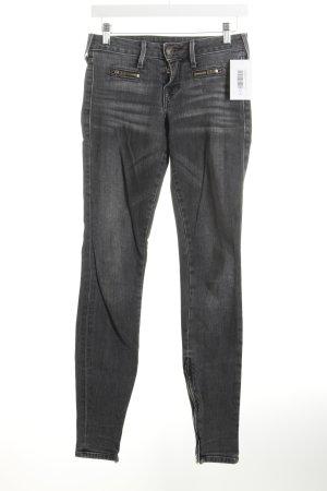 True Religion Skinny Jeans grau Washed-Optik