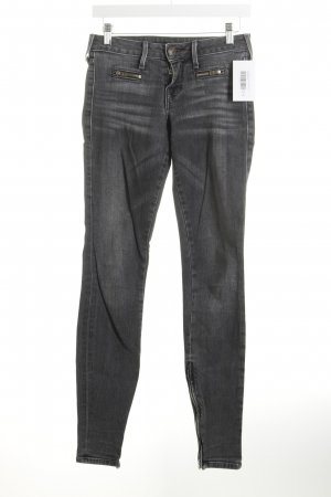 True Religion Skinny Jeans grau Washed-Optik