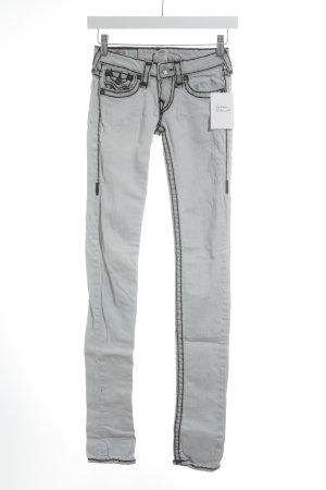 True Religion Skinny Jeans hellgrau Casual-Look