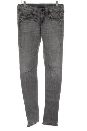 True Religion Skinny Jeans hellgrau Used-Optik