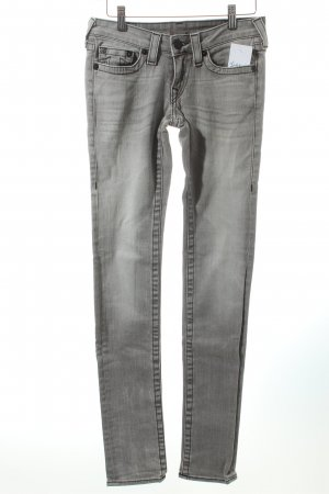 True Religion Skinny Jeans hellgrau Washed-Optik