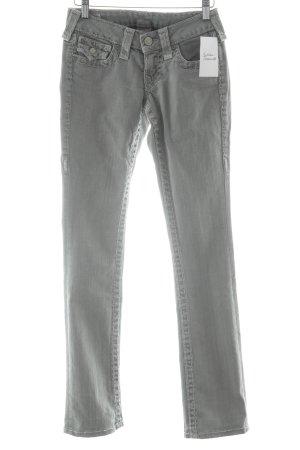 True Religion Skinny Jeans hellgrau-weiß Jeans-Optik