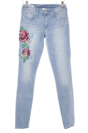 True Religion Skinny Jeans himmelblau Jeans-Optik