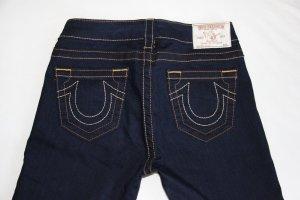 True Religion Skinny Jeans in dark denim blue mit abgesetzten Nähten - Größe 26