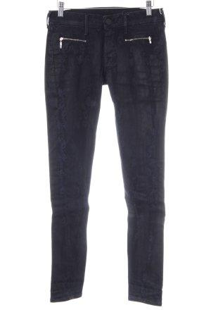 True Religion Skinny Jeans schwarz-dunkelblau florales Muster Casual-Look