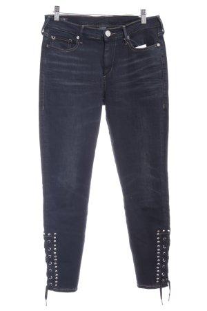 True Religion Skinny Jeans schwarz-grau Casual-Look