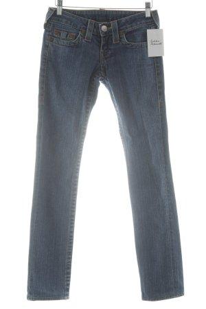 True Religion Jeans skinny blu acciaio-bianco stile jeans