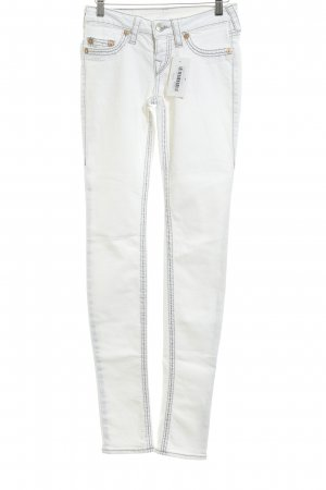 True Religion Skinny Jeans weiß-grau Casual-Look