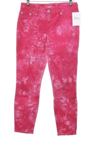 True Religion Skinny Jeans weiß-violett Batikmuster Casual-Look