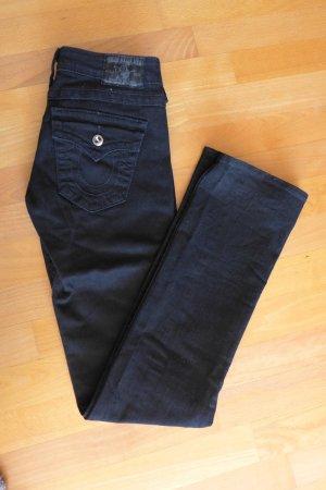 True Religion Skinny Röhre Disco Crystal Jeans schwarz Gr. 26