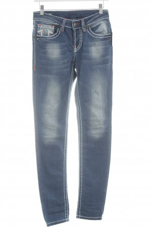 True Religion Slim Jeans blau-wollweiß Casual-Look