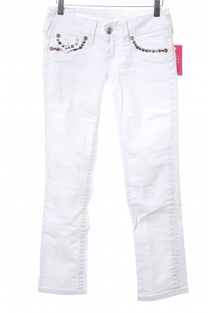 True Religion Slim Jeans weiß Casual-Look