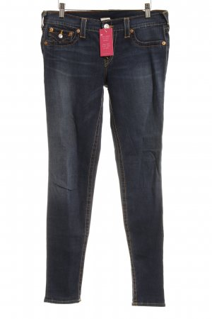 True Religion Slim Jeans dunkelblau Street-Fashion-Look