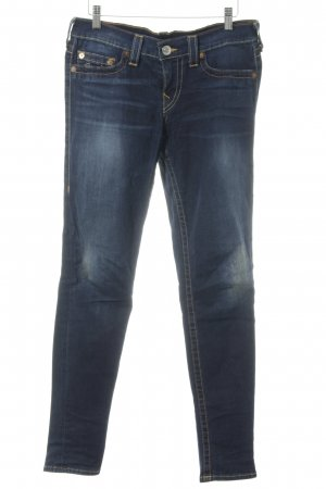 True Religion Slim Jeans dunkelblau Used-Optik