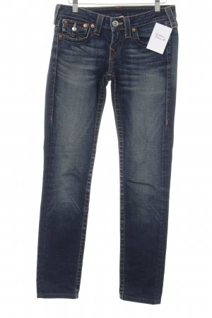 True Religion Slim Jeans dunkelblau Washed-Optik