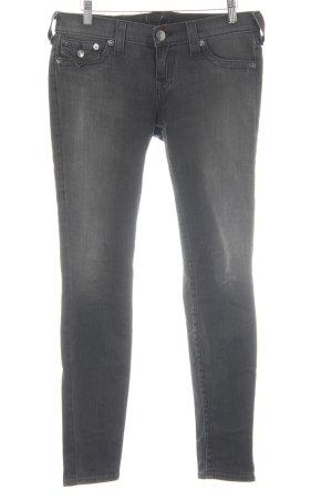 True Religion Slim Jeans dunkelgrau Casual-Look