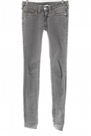 True Religion Slim Jeans grau Casual-Look