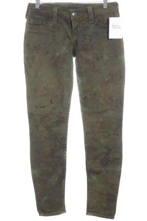 True Religion Slim jeans groen-grijs camouflageprint casual uitstraling