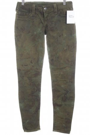 True Religion Slim Jeans grüngrau Camouflagemuster Casual-Look
