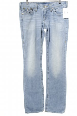 True Religion Slim Jeans himmelblau Used-Optik