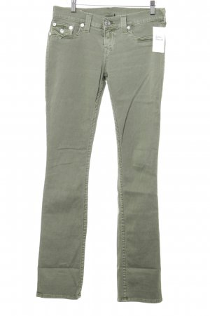 True Religion Slim Jeans khaki Logo-Applikation