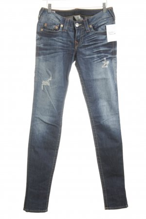 True Religion Slim Jeans kornblumenblau Destroy-Optik