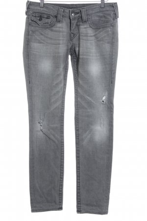 True Religion Slim Jeans mehrfarbig Biker-Look