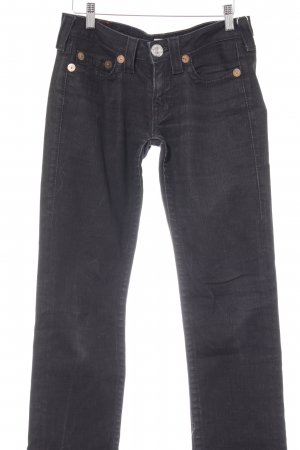 True Religion Slim Jeans schwarz Casual-Look