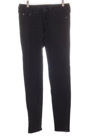 True Religion Slim Jeans schwarz-dunkelblau Logoprägung