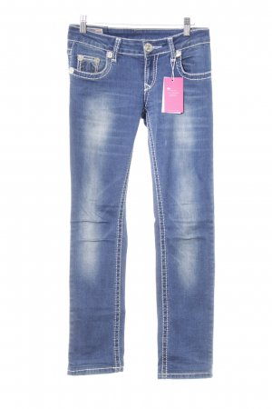True Religion Slim Jeans stahlblau Casual-Look