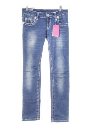 True Religion Slim Jeans stahlblau Casual-Look