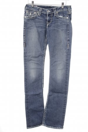 True Religion Slim Jeans stahlblau-himmelblau Street-Fashion-Look
