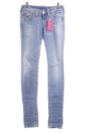 True Religion Slim Jeans stahlblau-kornblumenblau Casual-Look