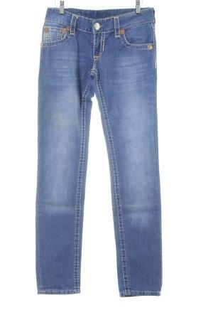 True Religion Slim Jeans stahlblau Vintage-Look