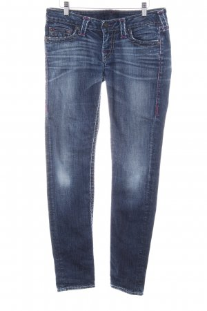 True Religion Slim Jeans stahlblau-violett Gypsy-Look