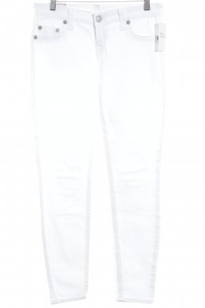 True Religion Slim Jeans weiß Casual-Look