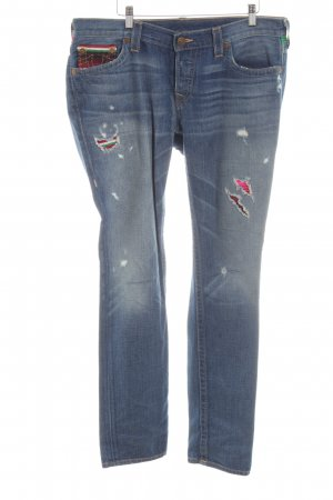True Religion Straight-Leg Jeans neonblau Casual-Look