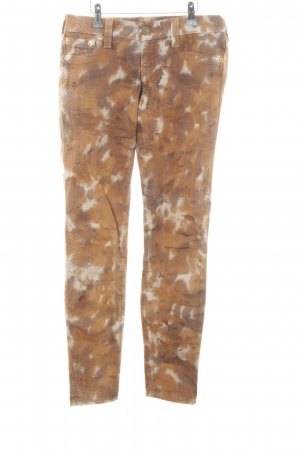 True Religion Straight-Leg Jeans abstraktes Muster Animal-Look