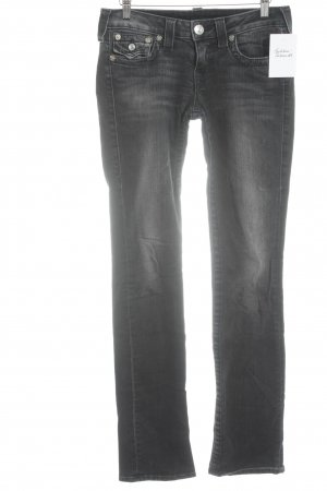 True Religion Straight-Leg Jeans anthrazit Casual-Look