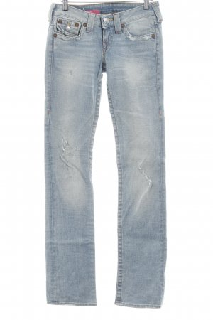 True Religion Straight-Leg Jeans blassblau-blau Casual-Look