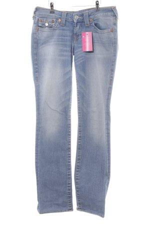 True Religion Straight-Leg Jeans blassblau Casual-Look