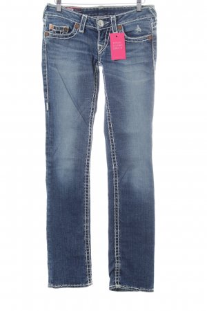 True Religion Straight-Leg Jeans blau
