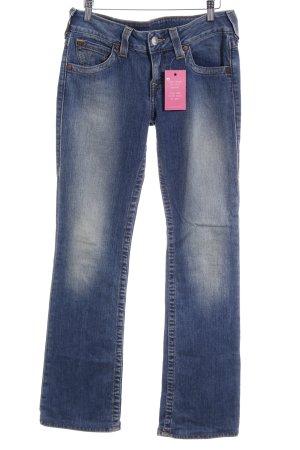 True Religion Straight-Leg Jeans blau-hellbeige Casual-Look